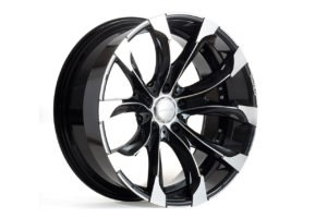 wald j11c wheel 22 24 diamond black black polish