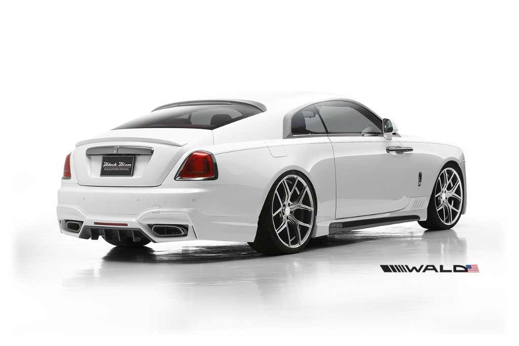 Rolls royce wraith series i wald black bison 2014 2016 wald usa wald rolls royce wraith black bison edition body kit rear angle view 2014 2015 2016 publicscrutiny Choice Image
